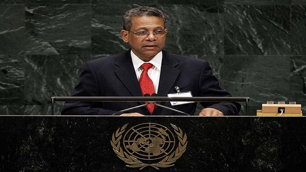 Dr Ken Baugh at the United Nations.