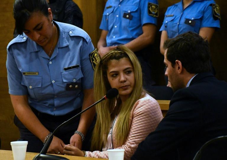 Brenda Barattini, durant son procès à l'issue duquel elle a été condamnée à 13 ans de prison, le 24 septembre 2019 à Cordoba. afp.com - Laura Lescano