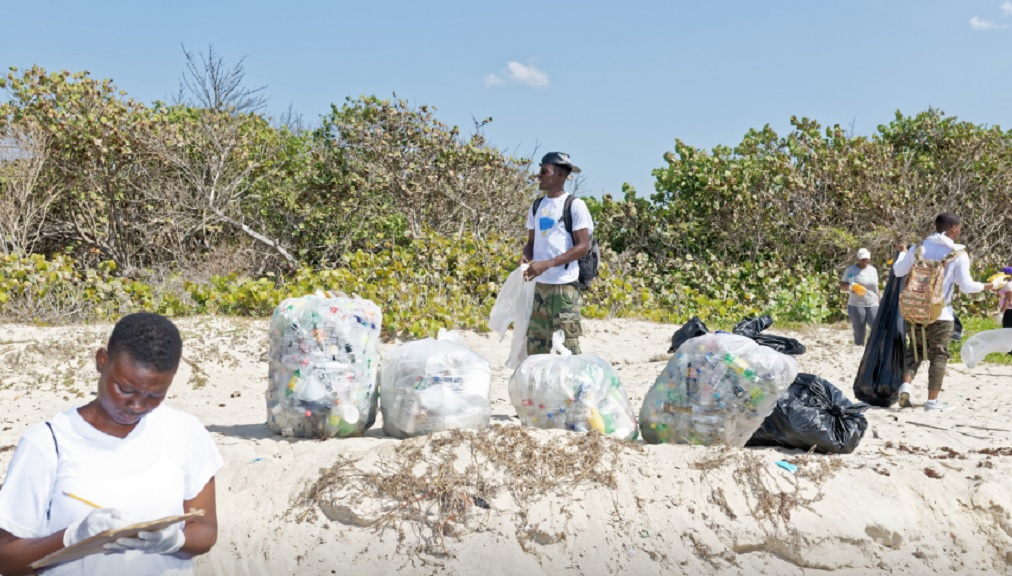 Volunteers participate in the National Environment and Planning Agency (NEPA) International Coastal Cleanup Day exercise at Hellshire Bay Beach, St. Catherine, last year. This year's event will be focused on the Barmouth Beach in St. Catherine