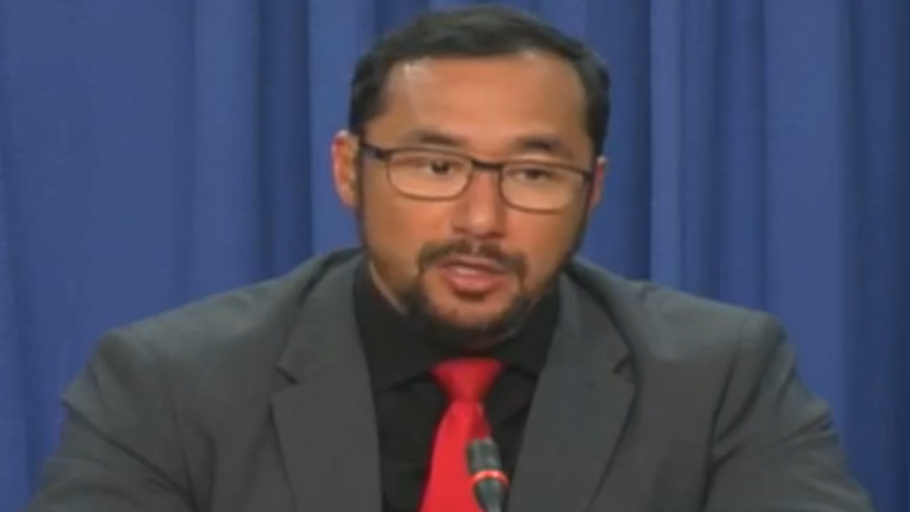 National Security Minister Stuart Young speaks at the Post Cabinet Media Briefing on July 25, 2019.