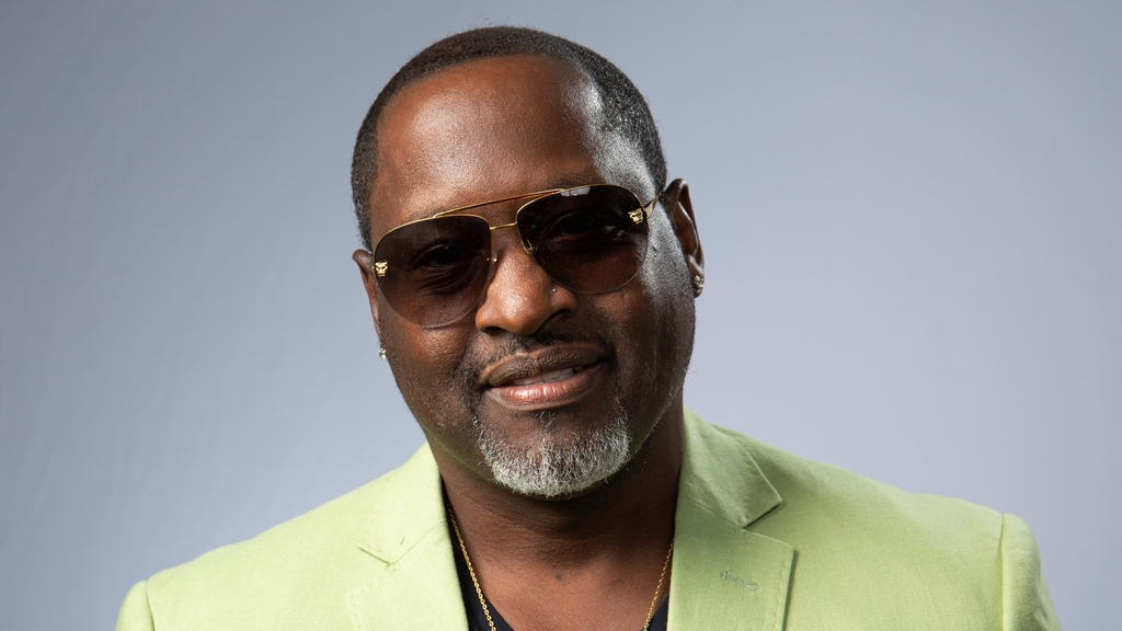 "This Aug. 27, 2019 photo shows portrait shows R&B singer Johnny Gill posing for a portrait in Los Angeles to promote his eighth studio album ""Game Changer II."" (Photo by Willy Sanjuan/Invision/AP)"