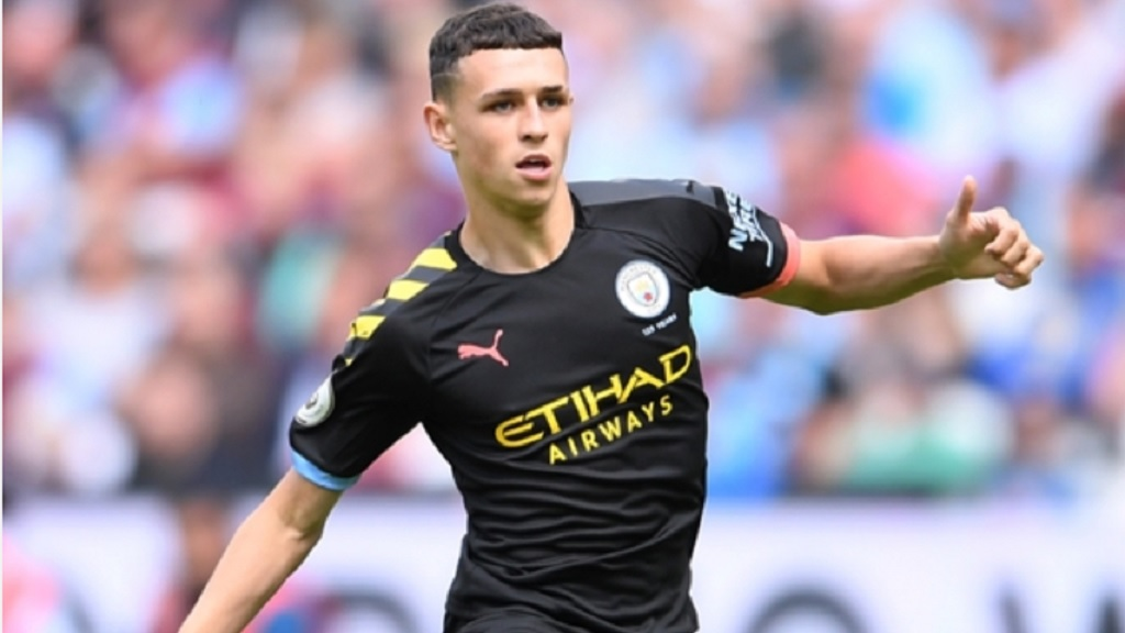 Manchester City midfielder Phil Foden.