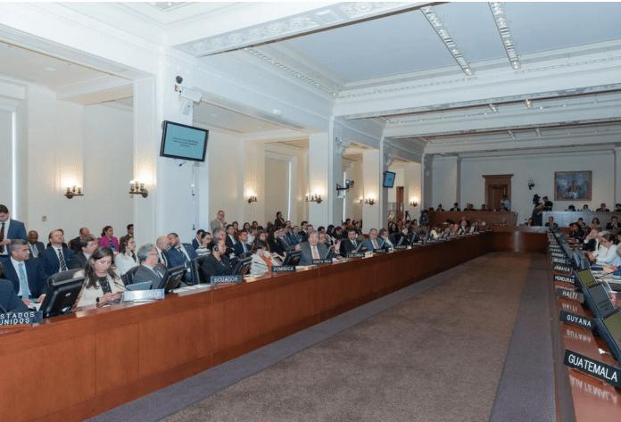 A l'OEA, les pays membres du TIAR lors de l'adoption de la résolution contre le régime de Maduro mercredi dernier.