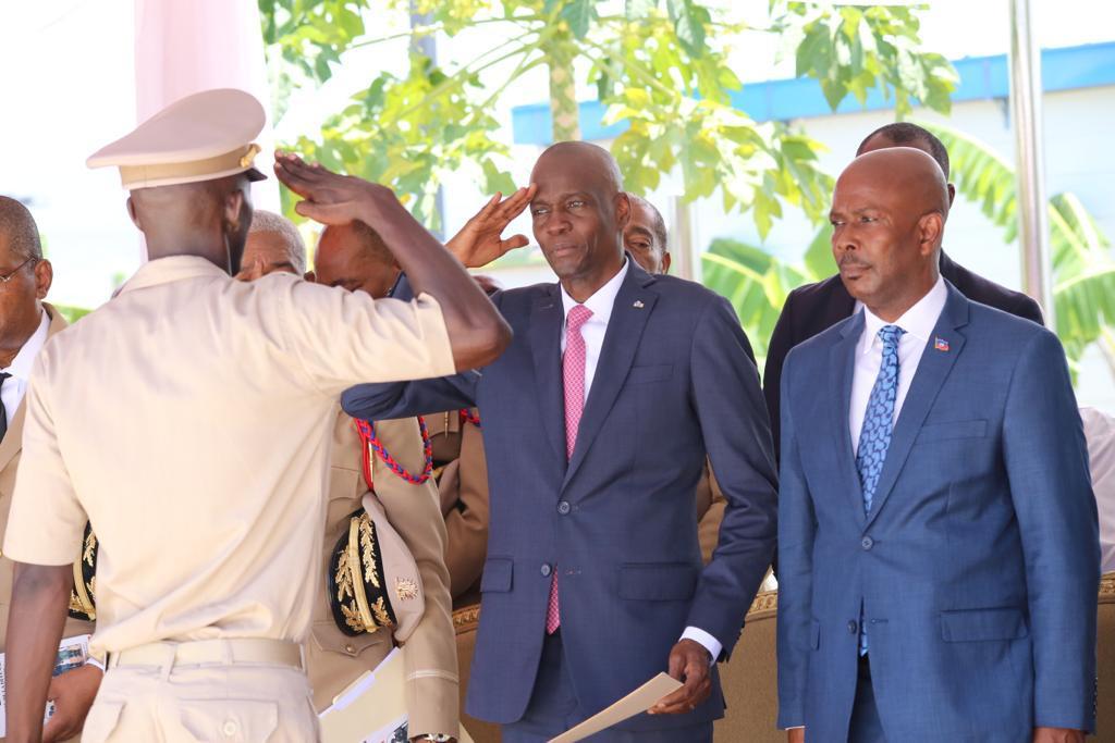 Jovenel Moïse lors de la graduation des nouveaux membres des Forces armées d'Haïti (FAd'H)/ Crédit: Twitter de la Présidence