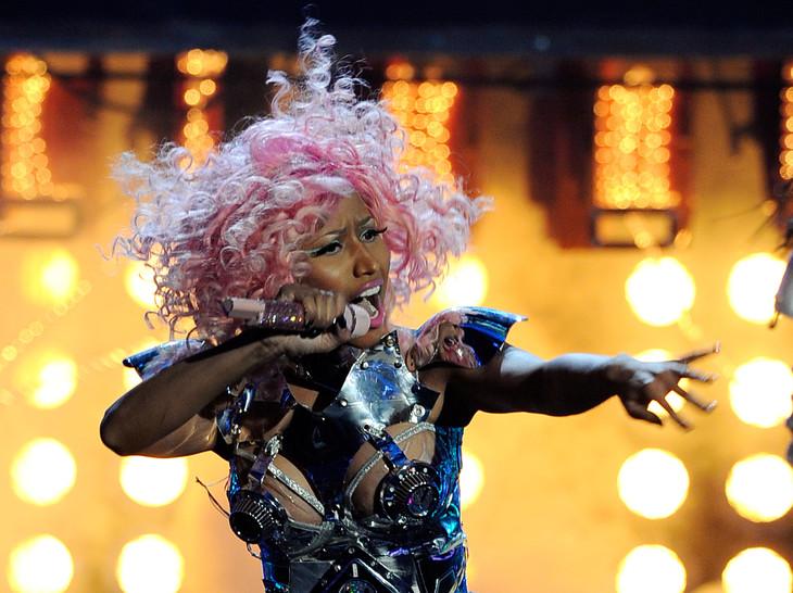 """J'ai décidé de prendre ma retraite et de profiter de ma famille"", a tweeté Nicki Minaj afp.com - KEVORK DJANSEZIAN"