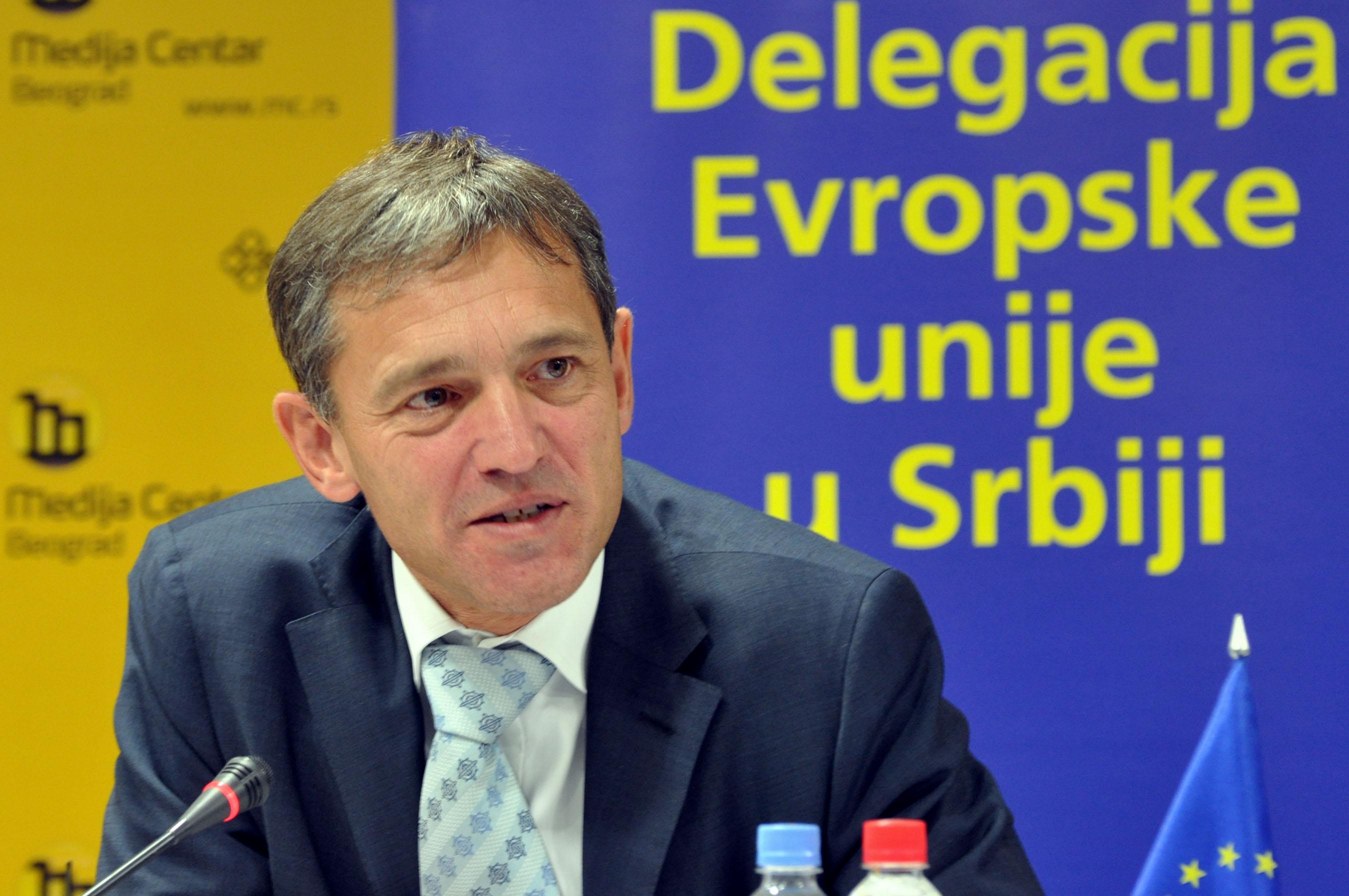 L'ambassadeur sortant de l'Union Européenne en Haiti, M. Vincent Degert.