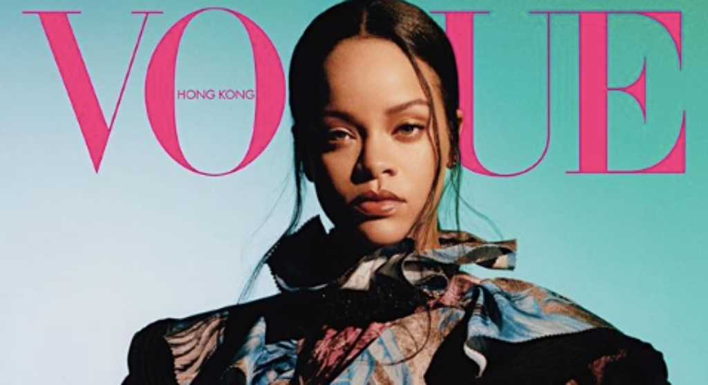 Rihanna on the cover of Vogue Hong Kong for the first time ever. (Source: Vogue HK IG)