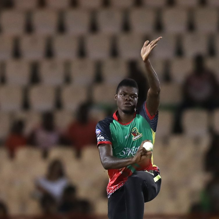 Alzarri Joseph took 2-20 in a losing effort for the Patriots at Darren Sammy Cricket Ground