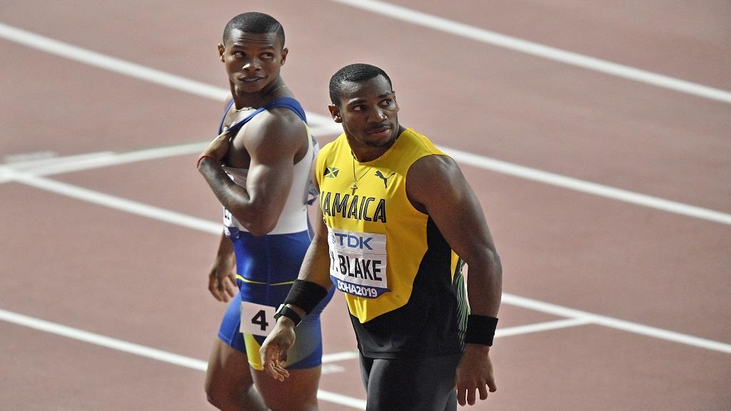Yohan Blake of Jamaica at the 2019  IAAF World Athletics Championships in Doha, Qatar.