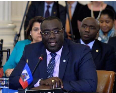Le chancelier haitien, Edmond Bocchit.