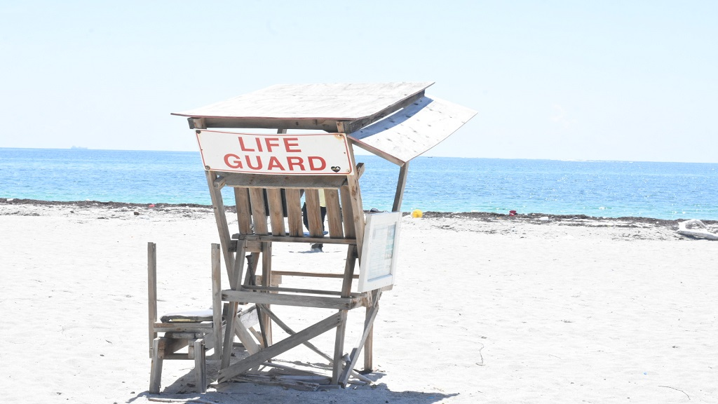 An unoccupied lifeguard chair at the Fort Clarence Beach in St Andrew on Wednesday, September 11, 2019. (PHOTOS: Marlon Reid)