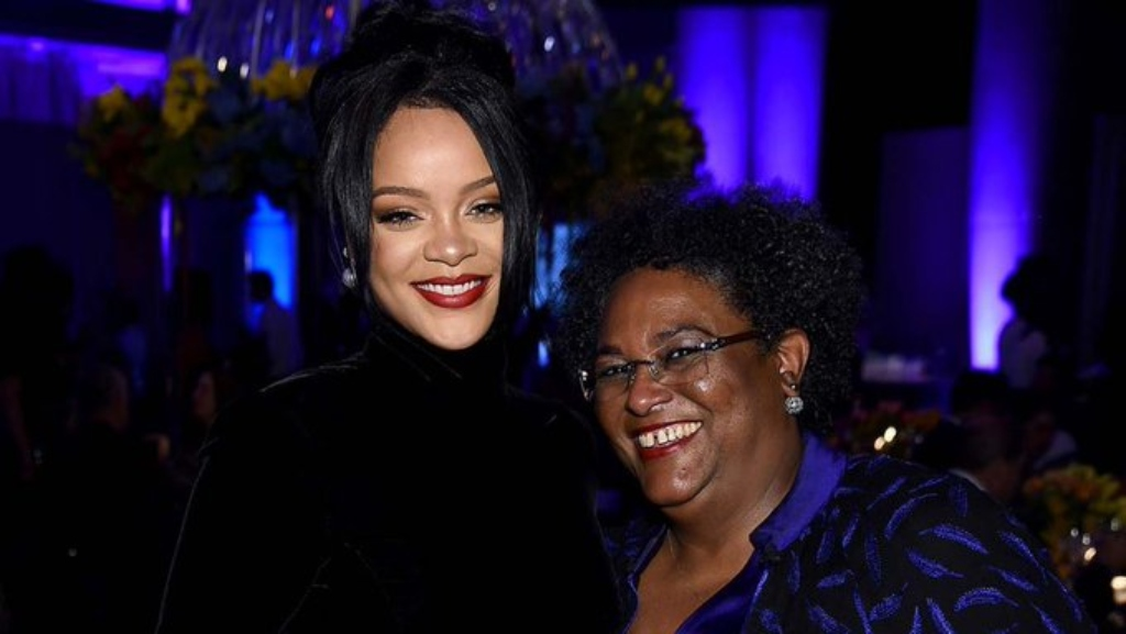 Prime Minister Mia Mottley shared this photo on Instagram. (Getty Image)