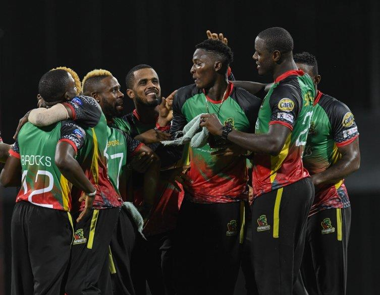 Dominic Drakes won the match for the St Kitts and Nevis Patriots with a wicket off the last ball