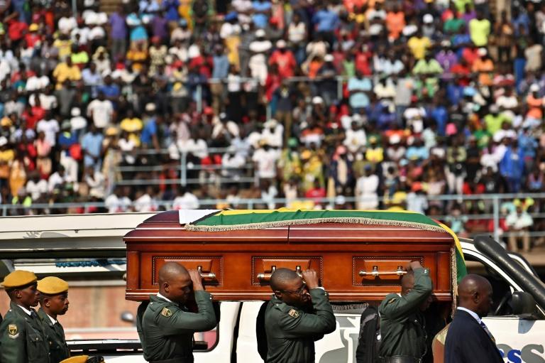 Funérailles de l'ex-président zimbabwéen Robert Mugabe à Harare, le 14 septembre 2019