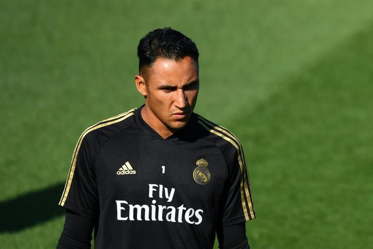 Le gardien du Real Madrid Keylor Navas en séance d'entraînement le 23 août 2019