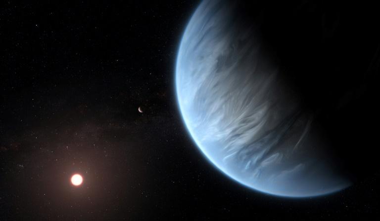 La planète K2-18b sur un document réalisé par ESA/Hubble le 11 septembre 2019