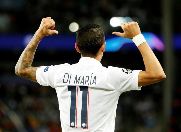 L'ailier argentin du PSG Angel Di Maria, auteur d'un doublé contre le Real Madrid, le 18 septembre 2019 au Parc des Princes afp.com - Thomas SAMSON