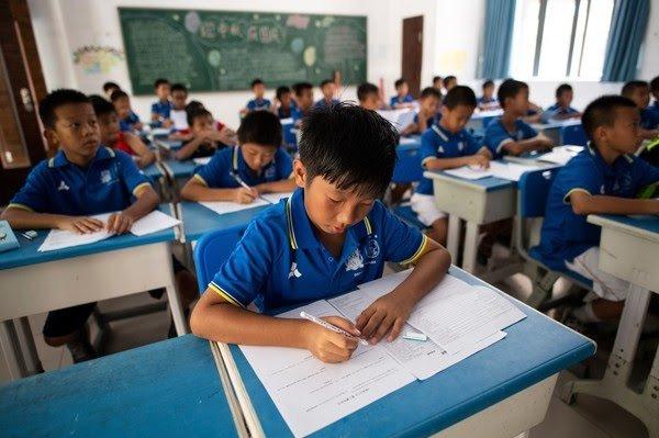 Une école en Chine (illustration) Crédit Image : Johannes EISELE / AFP