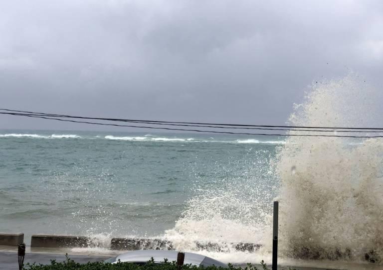 A Nassau à l'approche de l'ouragan Dorian le 1er septembre 2019 ( AFPAFP / Lucy WORBOYS )