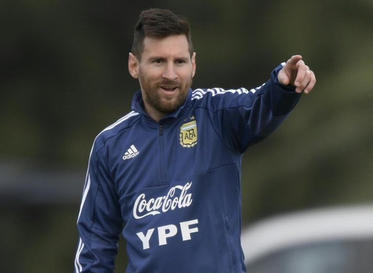 Lionel Messi à l'entraînement avec la sélection argentine, le 5 juin 2019 à Ezeiza, dans la Province de Buenos Aires