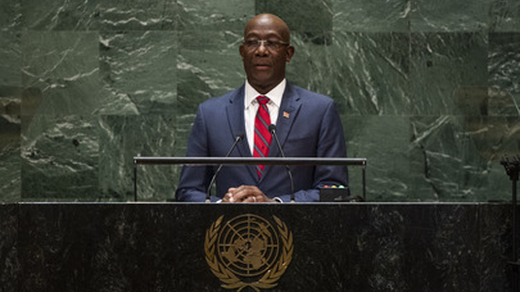 Prime Minister Dr Keith Rowley delivered his first address at the 74th United Nations General Assembly in New York in Friday.