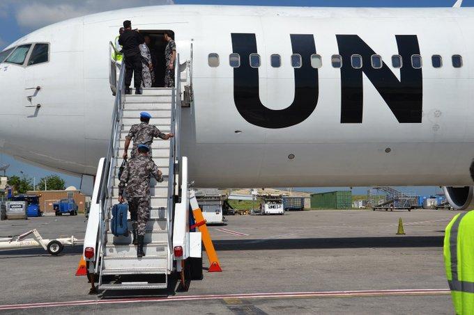 Les officiers du contingent jordanien ont quitté Haiti le 22 après 15 ans d'opération dans le pays aux cotés de la PNH. /Photo fournie par Minujusth.