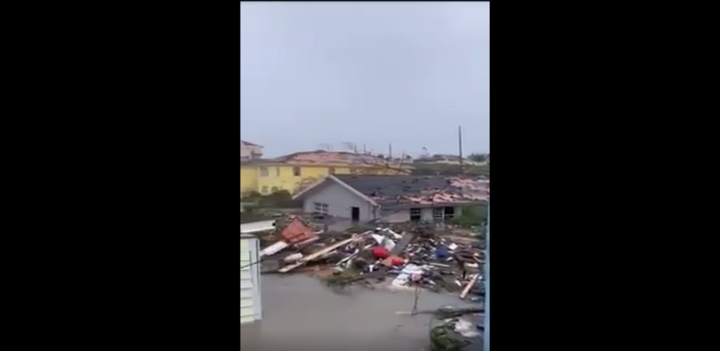 Video footage shared by ABS Television and Radio showed the destruction caused by the hurricane, which ripped off roofs, overturned cars and tore down power lines.