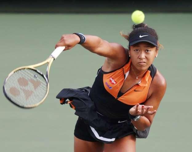 La Japonaise Naomi Osoka face à la Belge Elise Mertens en demi-finales du tournoi d'Osaka, le 21 septembre 2019 afp.com - Jiji Press