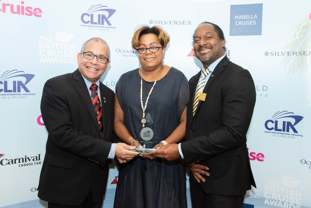 H.E. Milton Inniss, Barbados High Commissioner; Cheryl Carter, UK Director of BTMI; Marc McCollin, Senior Business Development Officer, UK BTMI