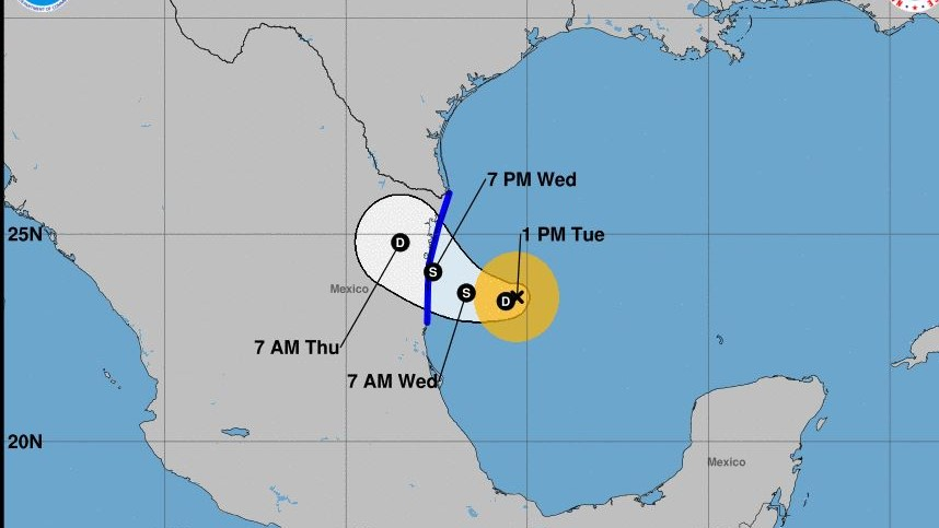 Tropical Depression forms in Gulf, headed toward Tamps