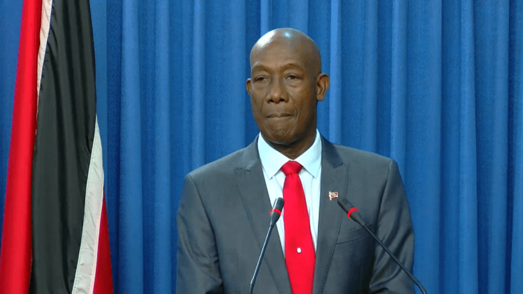 Prime Minister Dr Keith Rowley speaks at the Post Cabinet Media Briefing at the Diplomatic Centre in St Ann's, June 6, 2019.