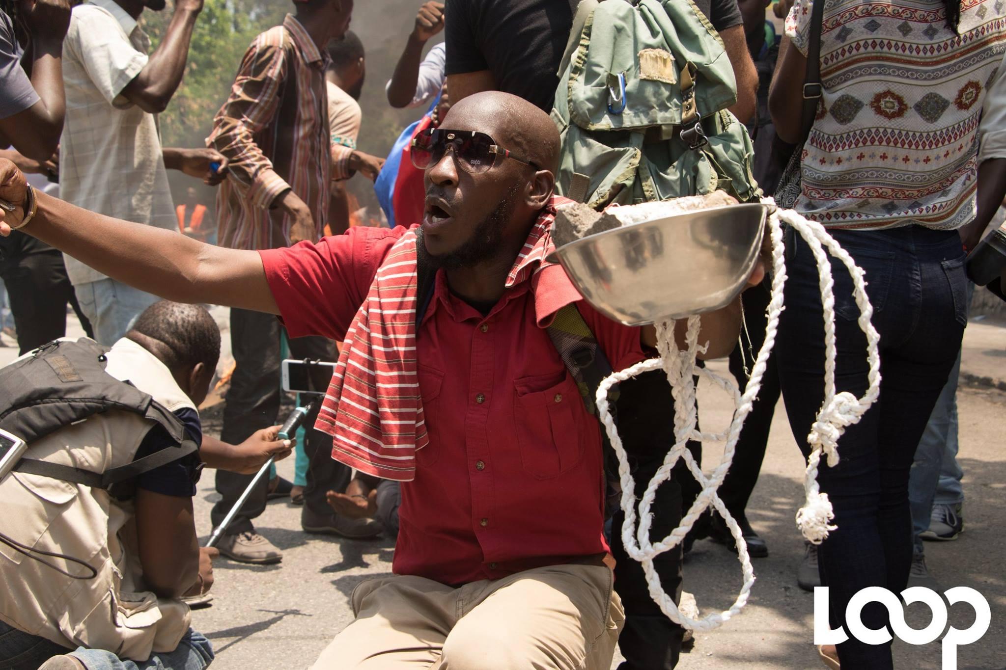 Manifestations lancées, demain 27 septembre, à travers tout le pays par l'opposition politique./Photo: Loop Haiti-Luckenson Jean.
