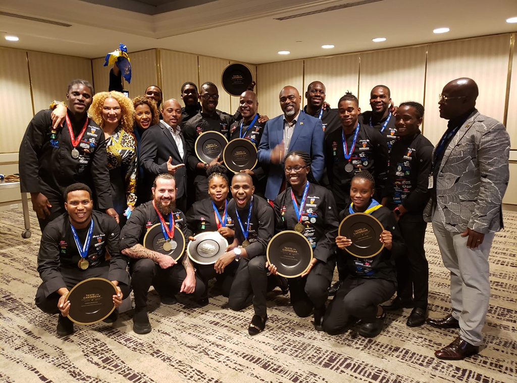 Members of the 2019 Barbados Culinary team after they collected their awards at Taste of the