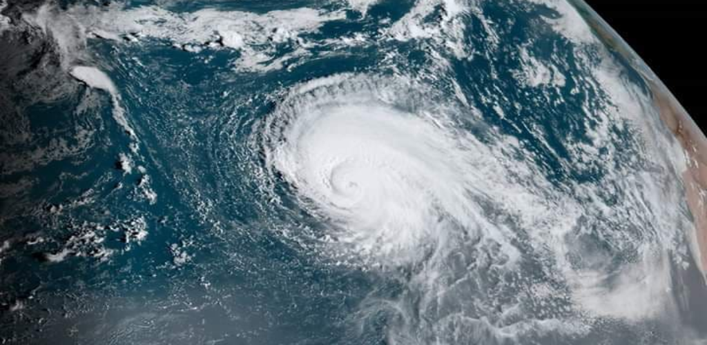 The U.S. National Hurricane Center said early Sunday that the storm has maximum sustained winds of 155 mph (250 kph).