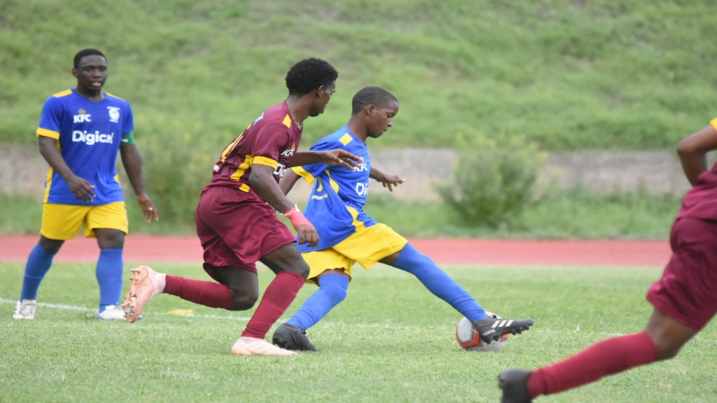 Action from the ISSA/Digicel urban area Manning Cup game between Wolmer's High and Jose Marti Technical High School at the Stadium East field on Saturday, September 21, 2019. (PHOTOS: Marlon Reid)