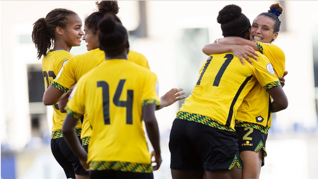 Jamaica's Reggae Girlz (pictured) will now look to take the next step toward qualifying for a first-ever Olympics as they face Cuba, Saint Lucia, Barbados and the U.S. Virgin Islands in Group B.