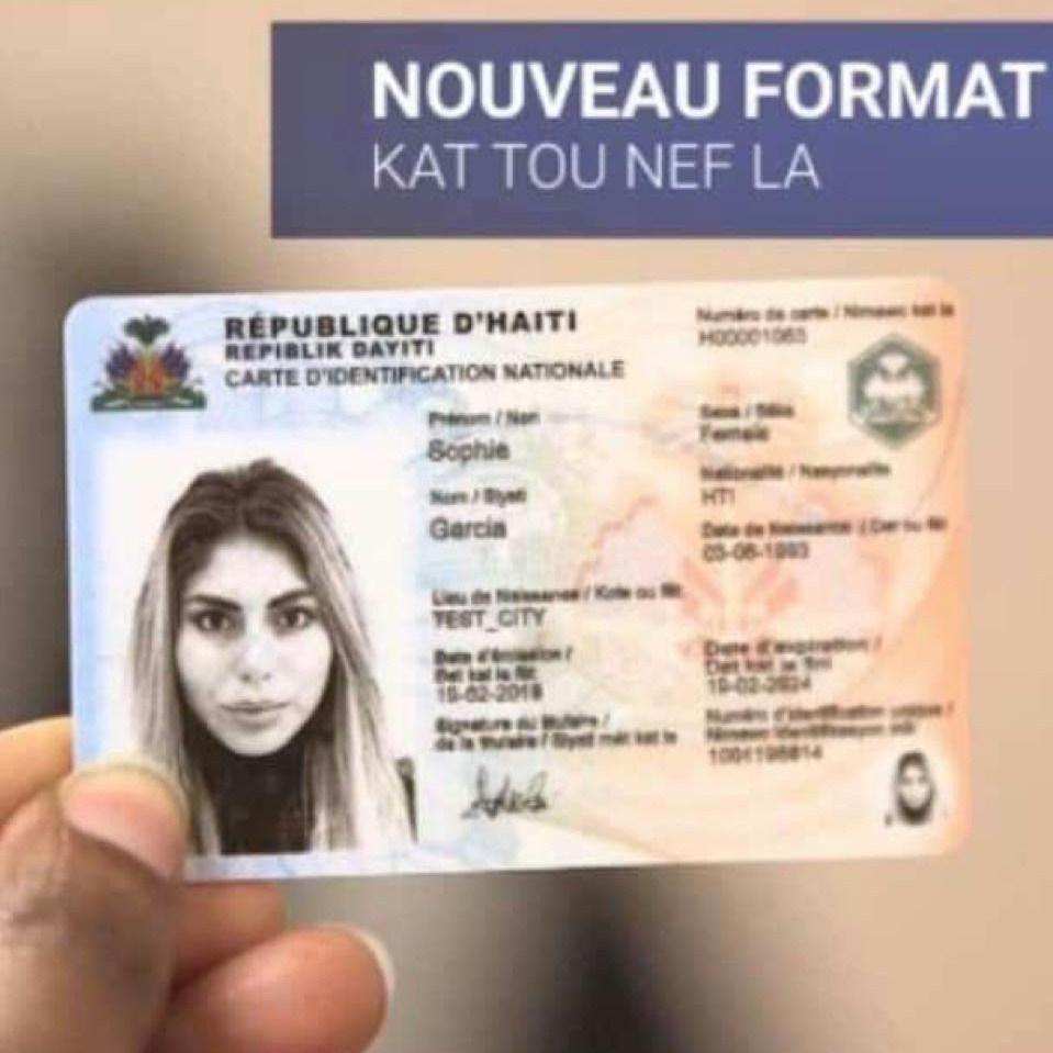 Dermalog: les citoyens haïtiens ont jusqu'à 31 décembre pour se munir de la nouvelle CIN