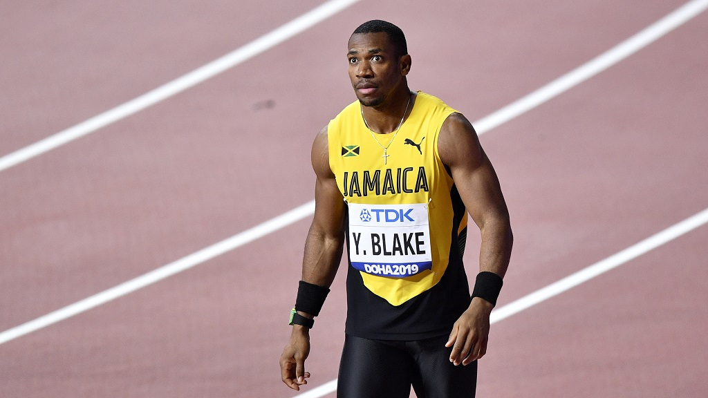 Jamaica's Yohan Blake at the 2019 IAAF World Athletics Championships in Doha.