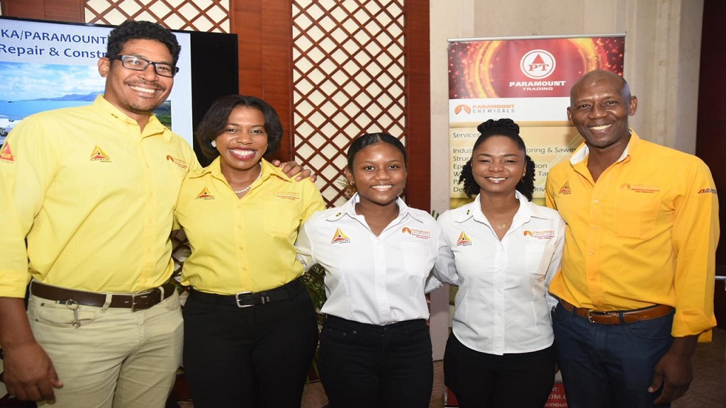 From left are: Vaughn Phang, chief operations officer of Paramount Jamaica;Bridgette Wright, sales coordinator of oils and lubricants; Anna Maria Graham, director of Paramount; Gisselle Lyew-You, business unit manager for construction and Hugh Graham, managing director and chief executive officer of Paramount Trading Jamaica Limited.