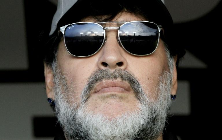 Diego Armando Maradona, alors entraîneur des Mexicains de Dorados à San Luis Potosi, le 5 mai 2019