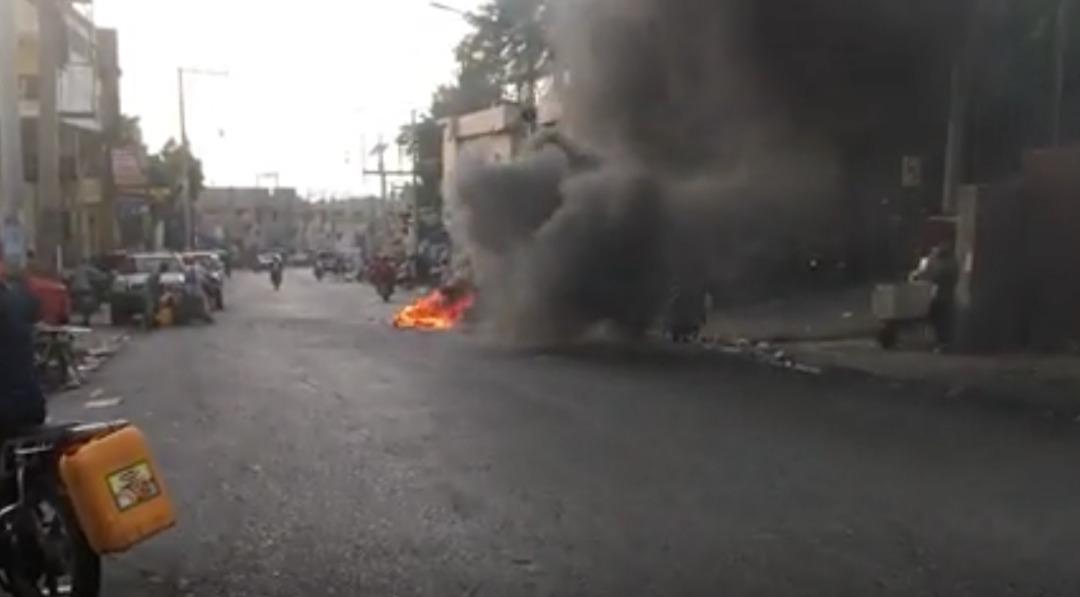 Une rue de Port-au-Prince pendant une manifestation le 2 septembre 2019 contre la pénurie d'essence qui secoue Haïti ((c) Afp)