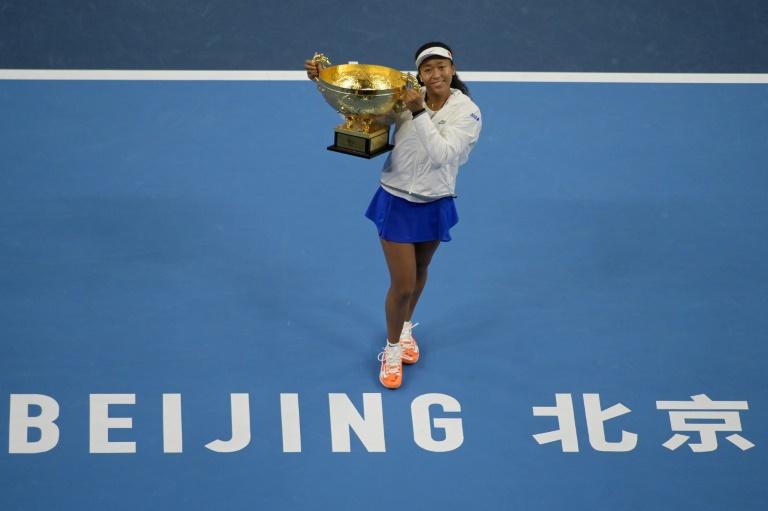 La Japonaise Naomi Osaka victorieuse au tournoi de Pékin en battant en finale l'Australienne Ashleigh Barty, le 6 octobre 2019