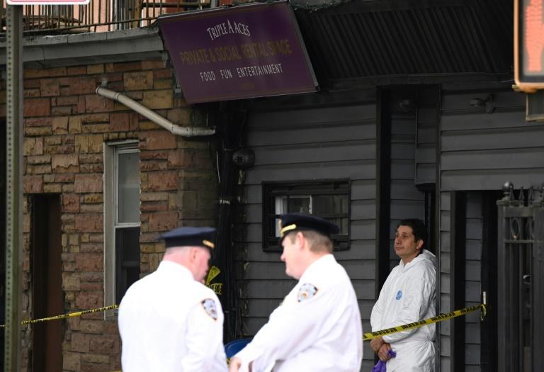 Les policiers new-yorkais sur les lieux de la fusillade à Brooklyn, le 12 octobre 2019 afp.com - Johannes EISELE