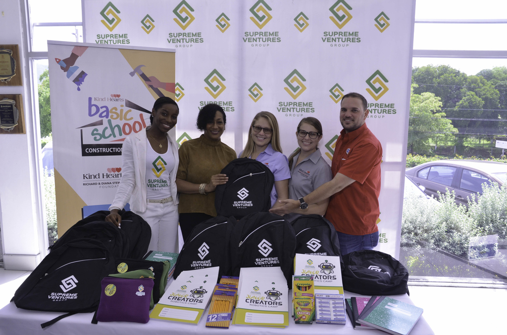 Supreme Ventures Foundation (SVF) Director, Heather Goldson (second left) and