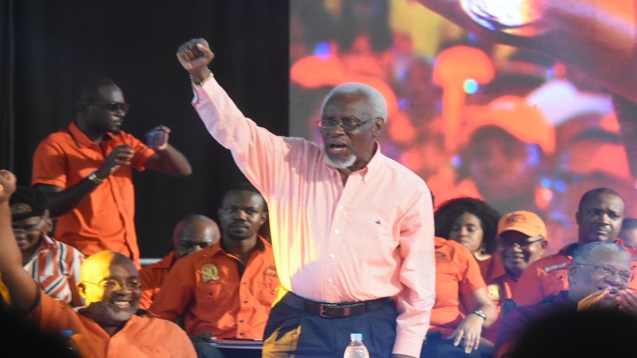 Former Prime Minister and President of the People's National Party (PNP) at the party's recent annual conference at the National Arena in St Andrew.