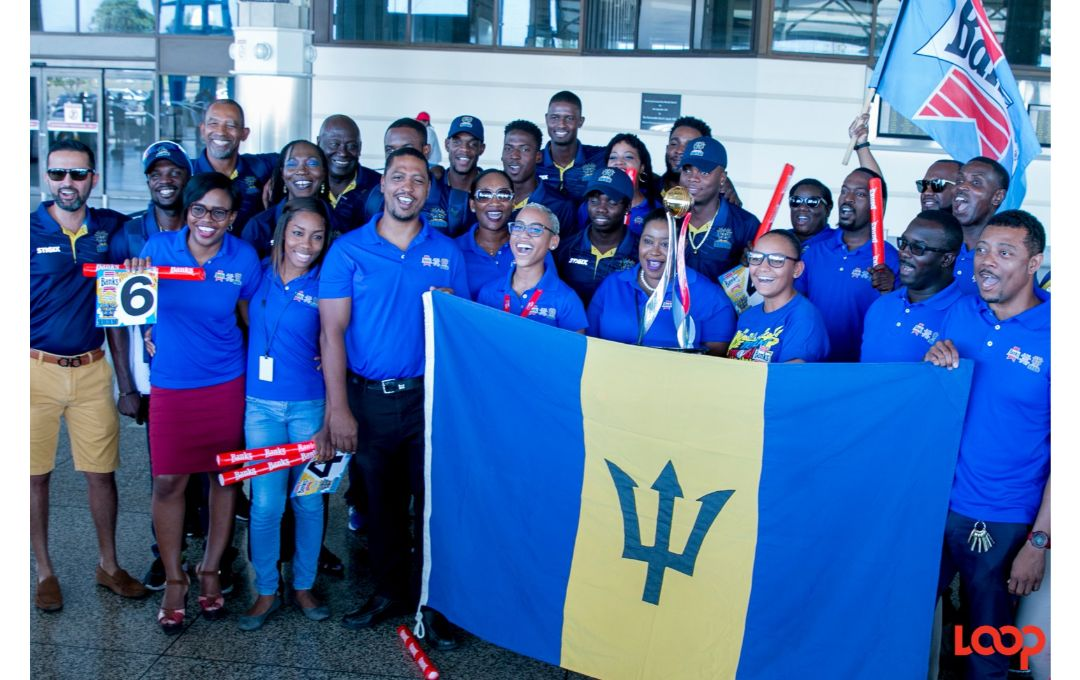 PHOTOS: Barbados Tridents welcomed home with smiles, cheers