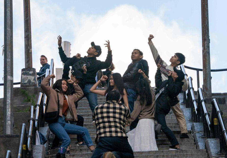Dans le Bronx, les marches du Joker attirent les fans du monde entier