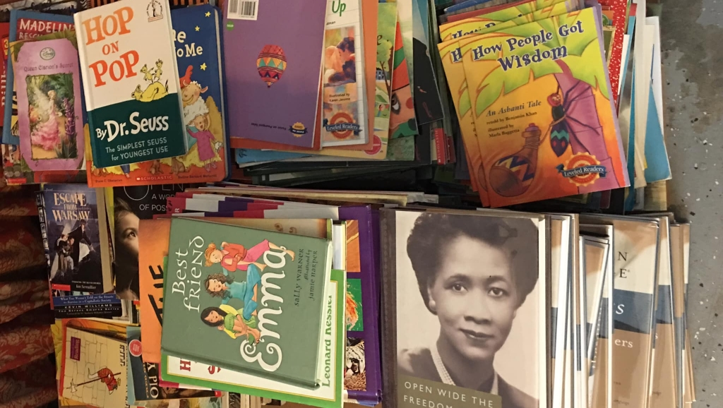 Books for the Barbados book fair hosted by Robinson Smiles and Hope Inc. now in its tenth year.