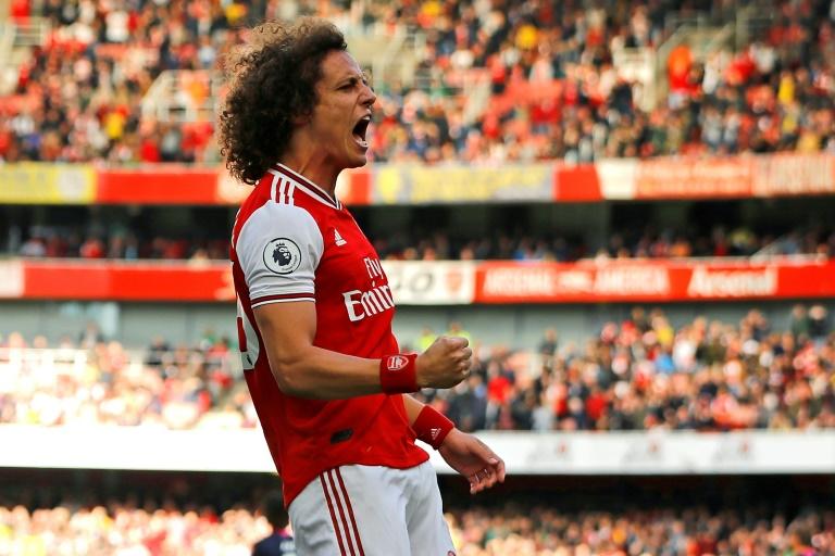 Le défenseur d'Arsenal David Luiz buteur lors de la victoire à domicile sur Bournemouth 1-0 le 6 octobre 2019
