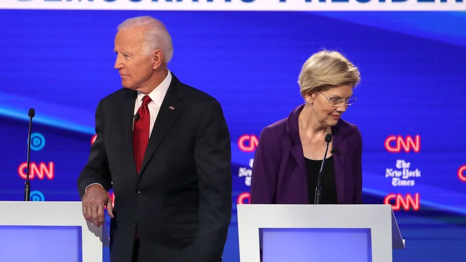 Elections américaines : Warren et Biden en tête des sondages